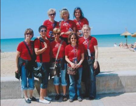 ... oder aber beim Ausflug auf Mallorca: Mit uns ist es immer lustig!