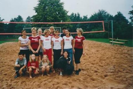 .... oder beim Beach-Volleyball-Turnier....
